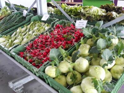 frisches Gemüse im Hofladen